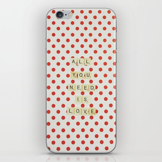 All you need is love iPhone & iPod Skin