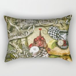 White Rabbit Rectangular Pillow