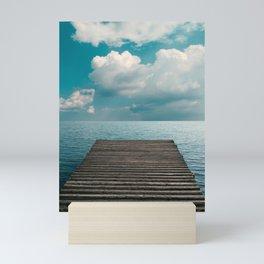 A Dive Into the Blue, Travel Photography, Seascape. Mini Art Print