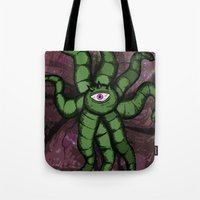 gore Tote Bags featuring Shuma GORE WRATH by Of Lions And Lambs