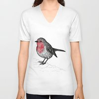 robin V-neck T-shirts featuring Robin by Jack Kershaw
