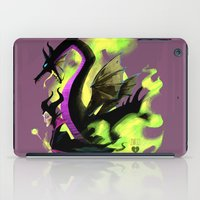 maleficent iPad Cases featuring Maleficent by Jennifer Ely