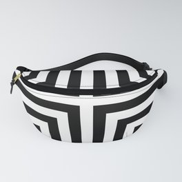 Simple Geometric Cross Pattern - White on Black - Mix & Match with Simplicity of life Fanny Pack