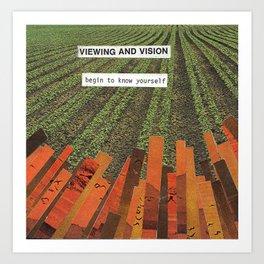 Viewing and Vision  Art Print