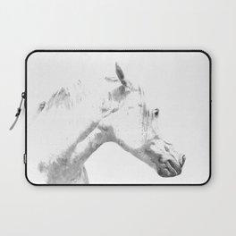 White Horse Profile Laptop Sleeve