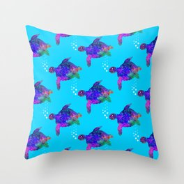 Time For Turtles Throw Pillow