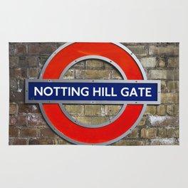 Notting Hill Gate Tube Sign Rug
