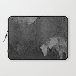 Moon with Horses in Grays Laptop Sleeve