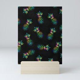 Iridescent pineapples Mini Art Print