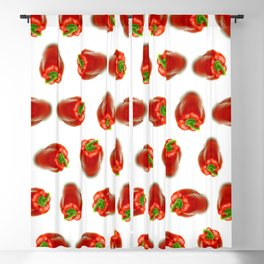 Red peppers pattern Blackout Curtain