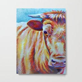 Cow Close-Up (*Koinonia*) Metal Print