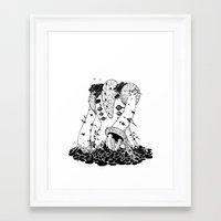 titan Framed Art Prints featuring Titan by Tegan Robichaud