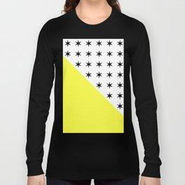 Black Stars And Sunshine Yellow - Colourful pattern Long Sleeve T-shirt