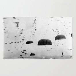 Airborne Mission During WW2 Rug