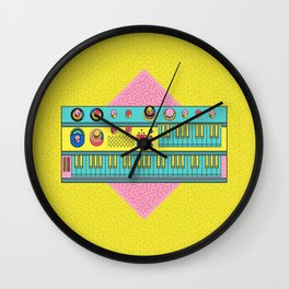 Psychedelic synth Wall Clock