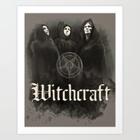 witchcraft Art Prints featuring Witchcraft by Corpse inc