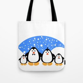 NGWINI - penguin family snow Tote Bag