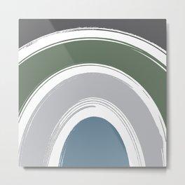 Abstract Earth Tone Rainbow Metal Print