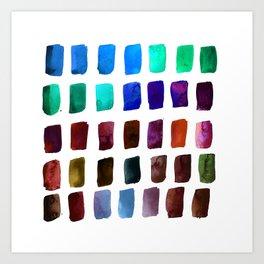 Brushstrokes 1q by Kathy Morton Stanion Art Print