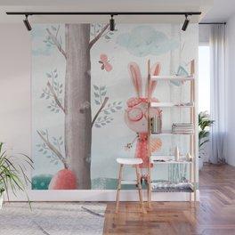 A Girl Bunny Wall Mural
