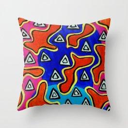 Splodge 3 Throw Pillow
