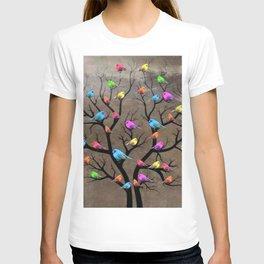 Colorful birds T-shirt