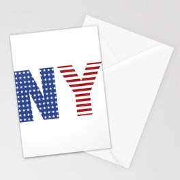 New York 4th Of July Stationery Cards
