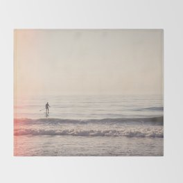 Vintage Paddler Throw Blanket