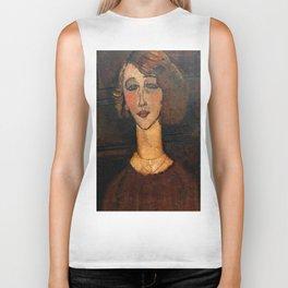 "Amedeo Modigliani ""Renée (The Blonde)"" Biker Tank"