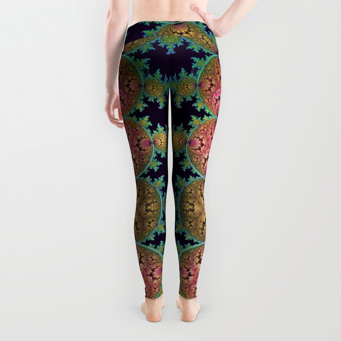 Amazing patterns in orbs and dragon spirals Leggings