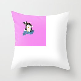 Penguin Pirate Captain from MISSISSIPPI  T-Shirt Throw Pillow