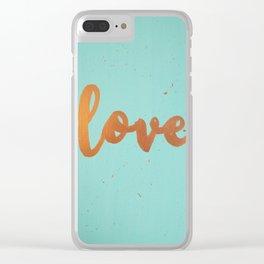 Acrylic 5 - Love! Clear iPhone Case