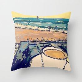 Portobello Beach Throw Pillow
