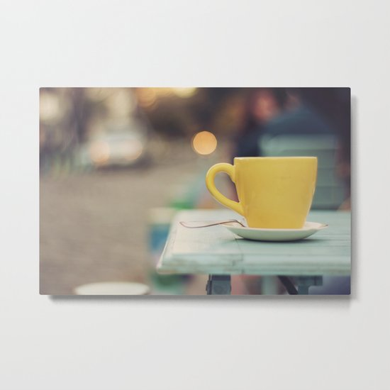 The yellow cup Metal Print