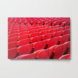 Red Stadium Seats Metal Print
