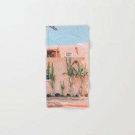 Pink House With Cactus Hand & Bath Towel