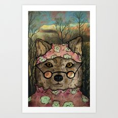 Abueloba (Granny-wolf) Art Print