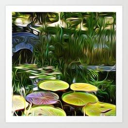 Greenery Pond Art Print