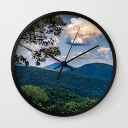 Blue Ridge Mountain Views Wall Clock