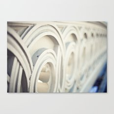 New York, NYC, Details of the bridge of Central Park on black and white Canvas Print