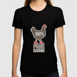 "Funny Label: ""100% Free Range"" T-shirt"