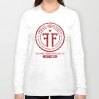 fringe Long Sleeve T-shirts featuring Fringe University by Alecxps