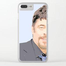 Benicio del Toro 43 Clear iPhone Case