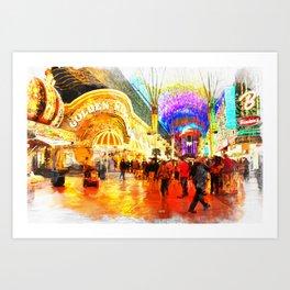 Fremont Street Experience Las Vegas Art Print