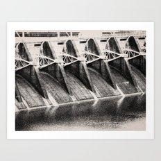 Industrial Dam Structure Art Print