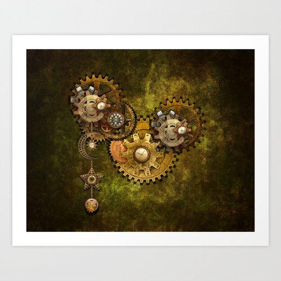 Clock Wall 2 Art Print