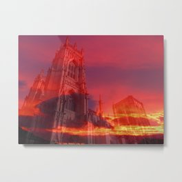 Fire from the Pulpit Metal Print
