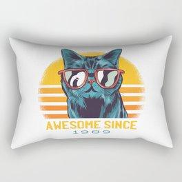 Awesome Cat Since 1989 Rectangular Pillow