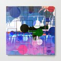 Multi- Blue Sticker Line Abstract Design by artaddiction45
