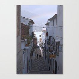 Calle Mejor, Altea, Costa Blanca, Spain. Canvas Print
